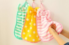 Bow hand towel multipurpose fringe hanging towels strong bibulous Diaomao kitchen wipes 29X33CM free shipping