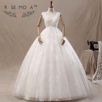 Cap Kollu Tül Fazla Dantel Düğün Balo Annelik Elbise Vestidos de Noiva Gerçek Fotoğraflar