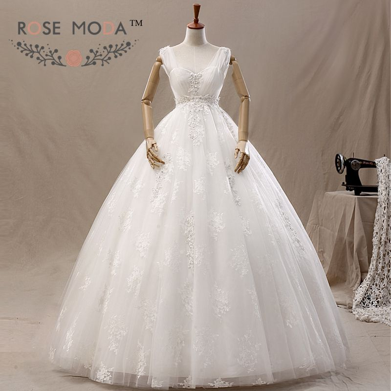Cap Sleeves Tulle Over Lace Wedding Ball Gown Maternity Dress Vestidos de Noiva Real Photos