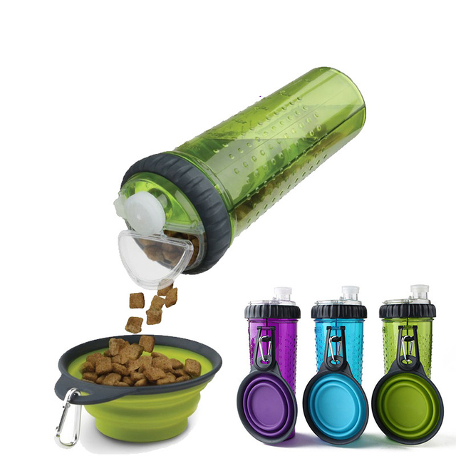 250ml Foldable Pet Dog Water Bottle Outdoor Travel: Silicone Travel Bowls Pet Dog Bottle Water Camping Plate