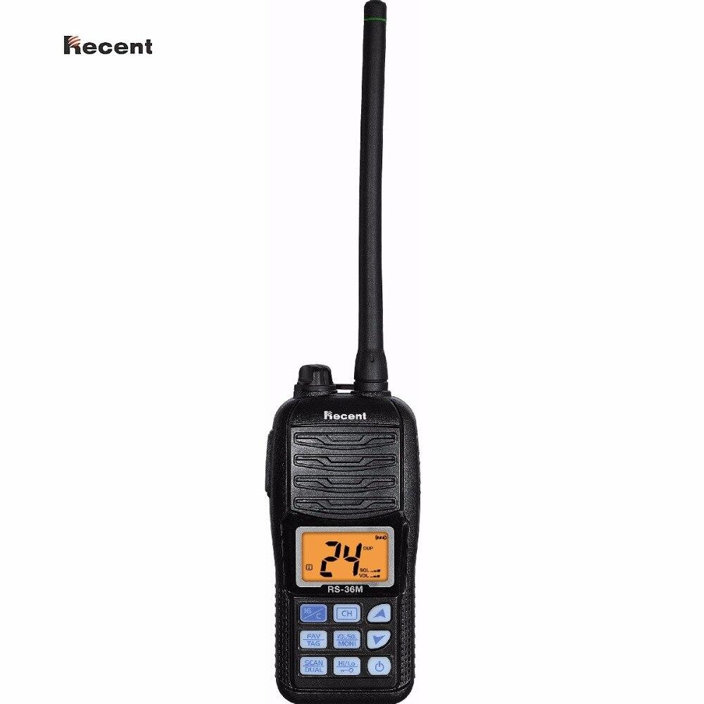 Recenti RS-36M IPX7 VHF Portatile Radio Marina Display LCD Galleggiante Dual/Tri-watch Auto Scan Prosciutto Interfono 156 ~ 161.45 Mhz Ricetrasmettitore