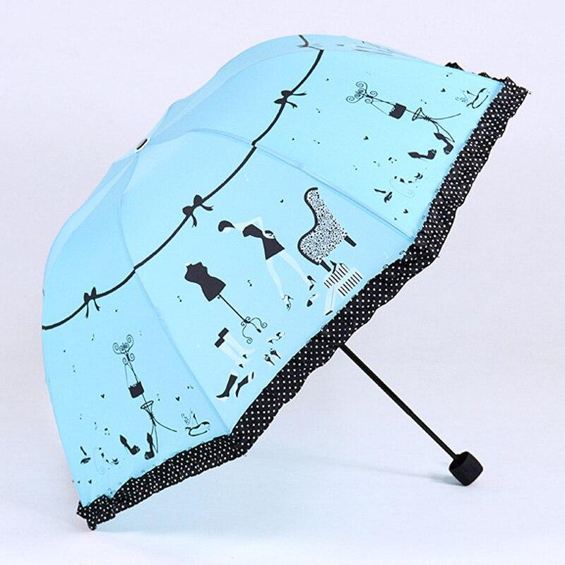 2016 новое прибытие красивый узор девушка зонтик дождь женщины мода арочные зонтики принцесса женский зонтик творческий подарок us041