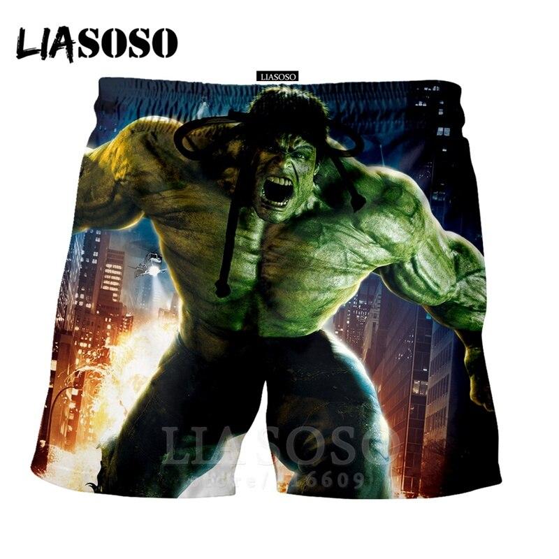 Fashion Punk Casual Anime Men Women Kids Leisure Superhero Homme Shirt Avengers Hulk Sports Harajuku Beach Sweatpants Shorts 920