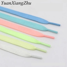 1Pair Luminous Shoelace Athletic Sport Flat Shoe Laces Glow In The Dark Night Color Fluorescent Shoelace 80/100/120/140CM YG-2 1pair 120 130 140 160cm shoelaces pink sport travel shoelace classic jelly color flat polyester shoe laces girls blue shoelace