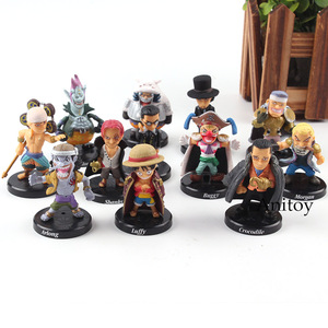 One Piece Luffy Shanks Sabo Crocodile Enel Moria Buggy One Piece Figures PVC Action Figure Collection Model Toys 12pcs/set(China)