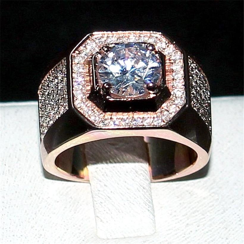 Choucong Bijoux Hommes 925 Sterling Silver & or rose 1.5ct Diamant - Bijoux fantaisie - Photo 4