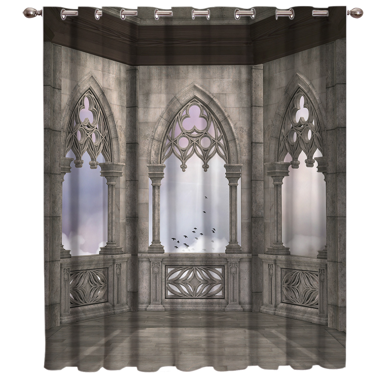 Gothic House Decorative Curtains Room Curtains Large Window Window Curtains Dark Bathroom Curtains Kitchen Indoor Fabric Drapes