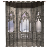 Gothic House Decorative Curtains Room Curtains Large Window Window Curtains Dark Bathroom Curtains Kitchen Indoor Fabric Drapes|Curtains|Home & Garden -
