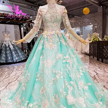 AIJINGYU Satin Wedding Dress 2019 Bridal With Sleeves Gown