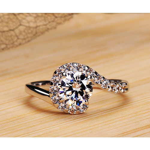 high quality white gold plated cubic zirconia ring for wedding engagement rings for women in rings from jewelry accessories on aliexpresscom alibaba - High Quality Cubic Zirconia Wedding Rings