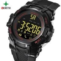 North 2018 Men Sport Watch Digital Display Alarm Clock Bluetooth Smart Watch for IOS Android Waterproof Outdoor Clock N2007