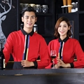 Thick and Long Uniform Hotel overalls  Coffee shop Waiter Uniforms Sleeved Female  Restaurant Shirt