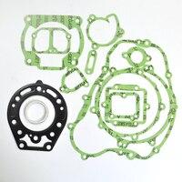 Motorcycle Engine Rebuilding Kits gasket For Kawasaki KDX200 95 06 Motor Bike Cylinder Crankcase Cover Top End Gasket Set