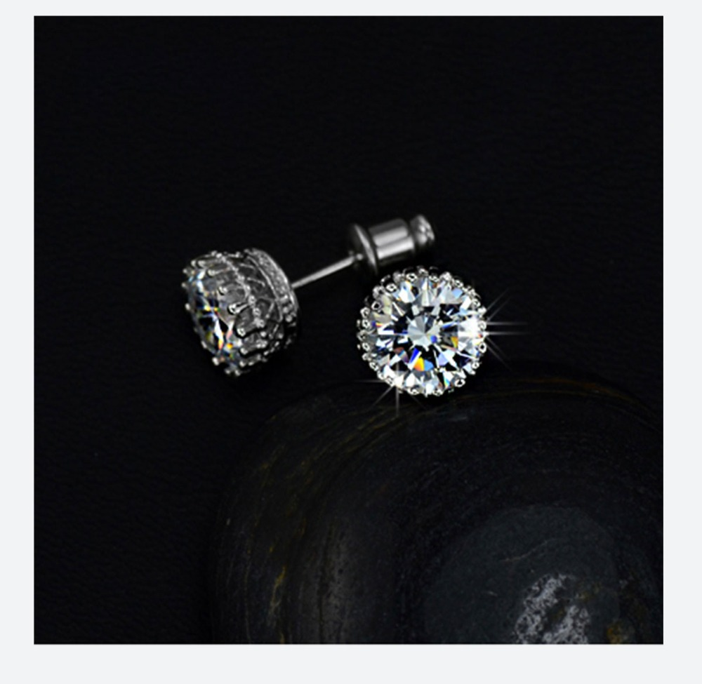 4a63dcfc6 UMODE Brand Multi Prongs 8mm 2ct Top Quality CZ Cubic Zirconia Stud Earring