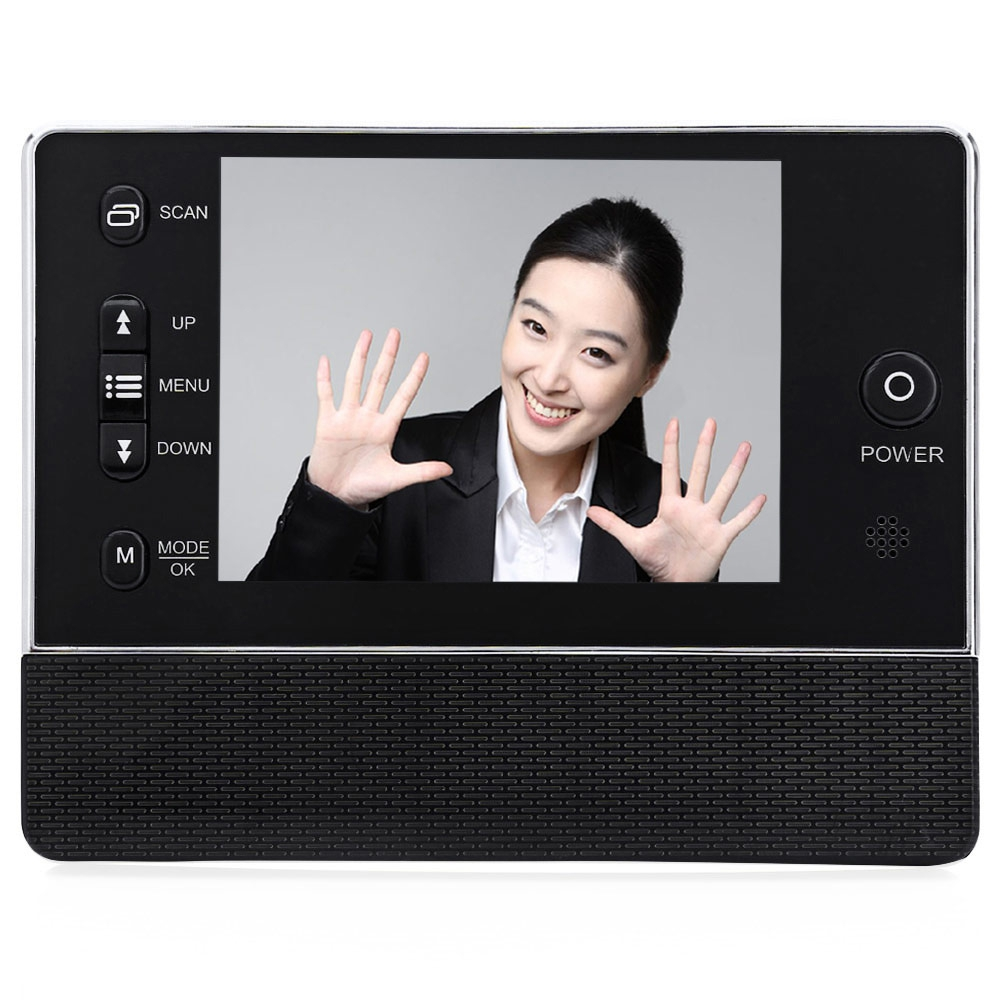 bilder für 3,5 zoll Bildschirm Türklingel Türspion Digitale Viewer Mit Kamera DVR Infrarot LCD Nachtsicht 3-Time-Zoom Hause Secruity Türspion