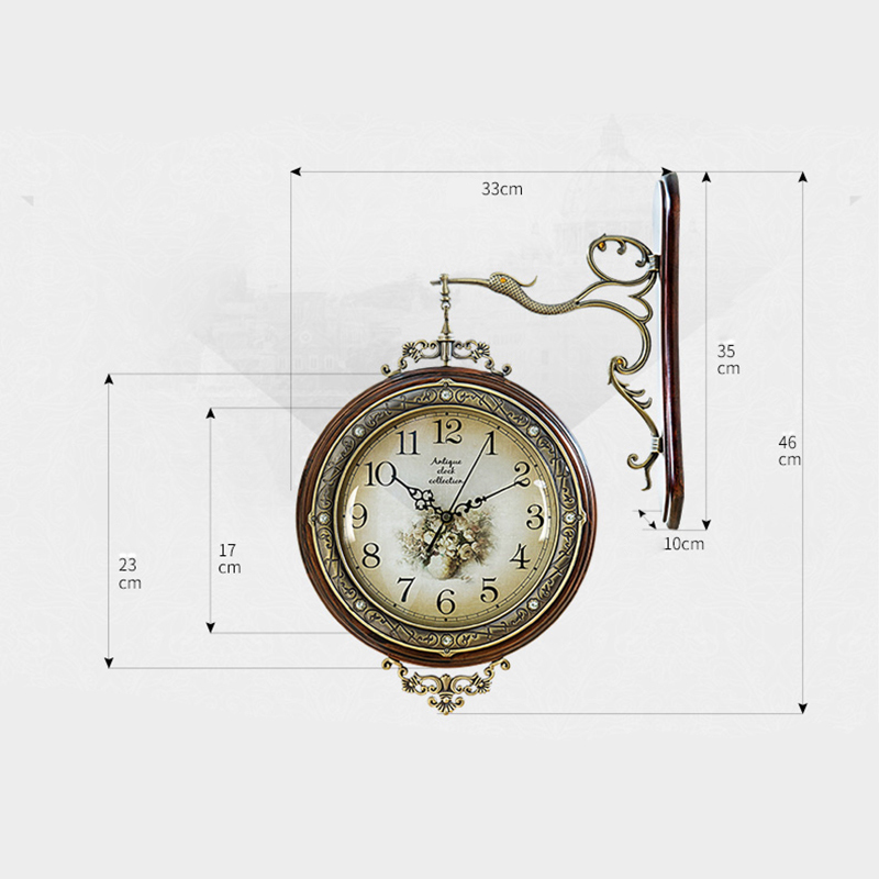 Aliexpresscom Buy OUYUN Large Antique Wooden Wall Clock Modern
