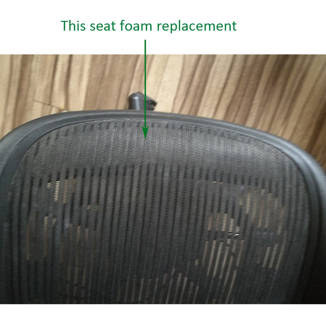 New Black Color Seat Foam Replacement for Herman Miller Classic Aeron Chair A B Size 1