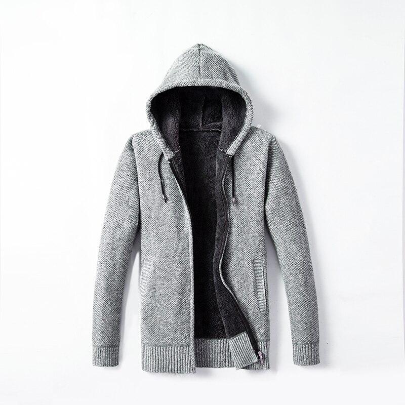Men's  Sweater New Arrival Hooded Cardigans And Fleece Over Heavy Autumn Winter Sweaters  Men Clothes Zipper Warm Coat