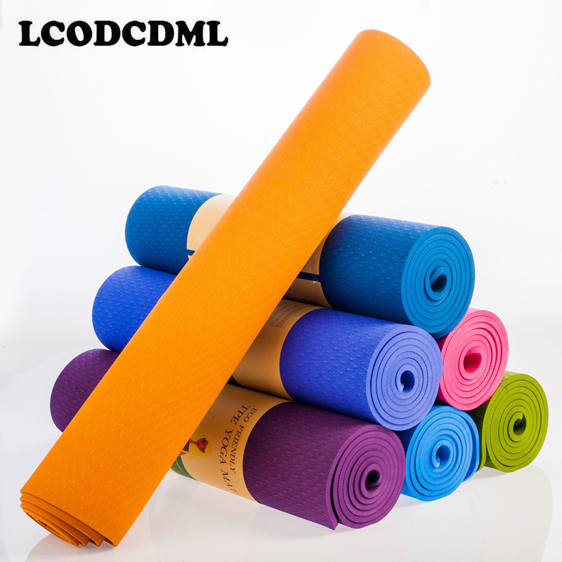 high quality TPE Yoga Mat 6mm Fitness Mat Fitness Yoga Sport Mat Gymnastics Mats With Yoga Balance Pad Yogamat 183*61cm*6mm dature tpe yoga mat 6mm fitness mat fitness yoga sport mat gymnastics mats with yoga bag balance pad yogamat 183 61cm 6mm
