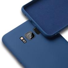 Luxury Soft Liquid Silicone Cases For Samsung Galaxy S8 Plus
