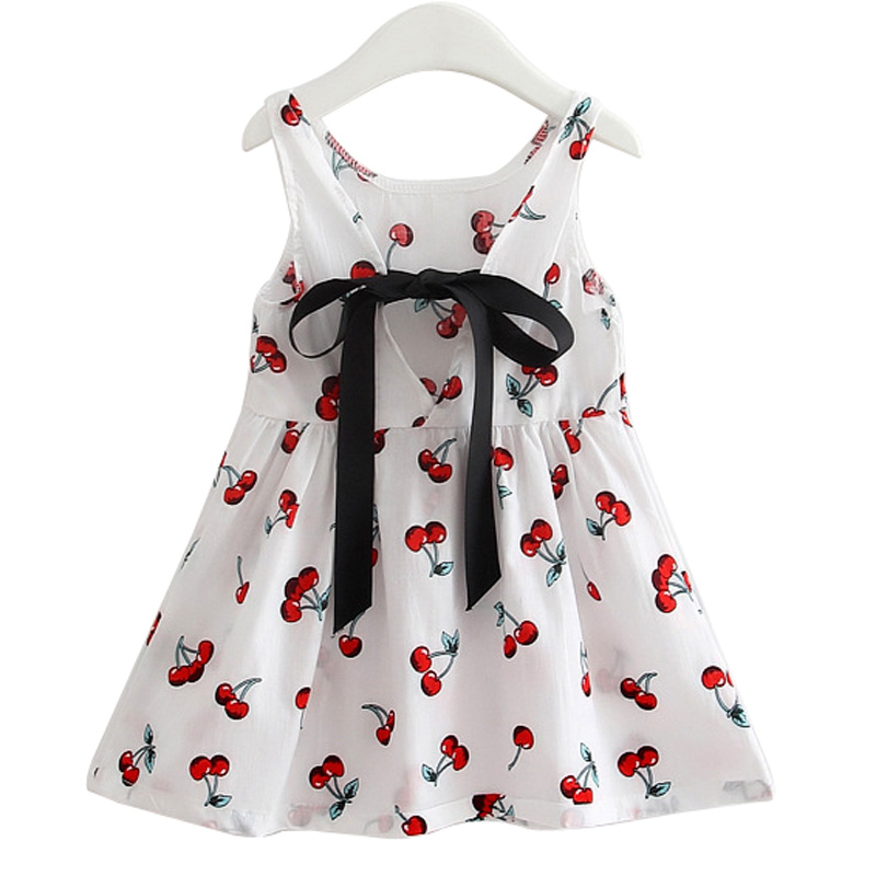 Hilenhug Girls Dress Summer Clothes for Kids Children Princess Trendy Casual Ribbon Dresses Sleeveless 2 to 7 Years
