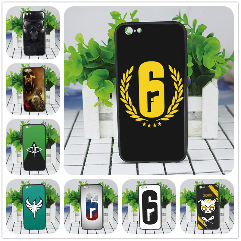 Rainbow Six Siege Operation Logo phone Case For iphone 6 5s X 7 8 Plus Black silicone case For Samsung s5 6 s7 edge s8 s9 plus