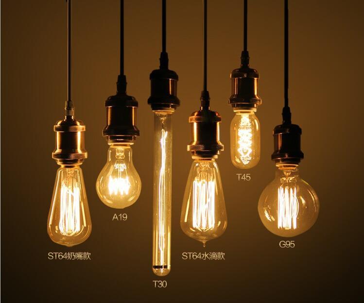 Купить с кэшбэком LED Globe Bulbs 60W E27 Retro Industry Incandescent Bulb Edison Style