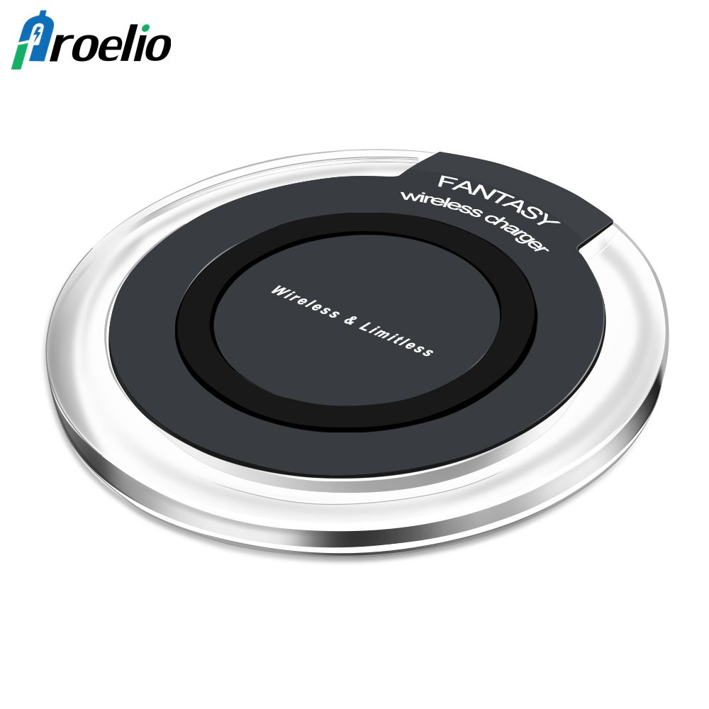 Proelio Mini Qi Wireless Charger USB Charge Pad For iPhone X 8 Plus Samsung Galaxy S8 Plus S6 S7 Edge Note 5 8 Elephone P9000