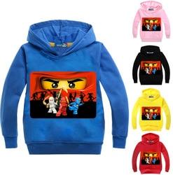 Dlf 2-16years ninja bebê menina hoodie meninos moletom com capuz ninjatoes crianças legoes roupas dos desenhos animados crianças jumpers