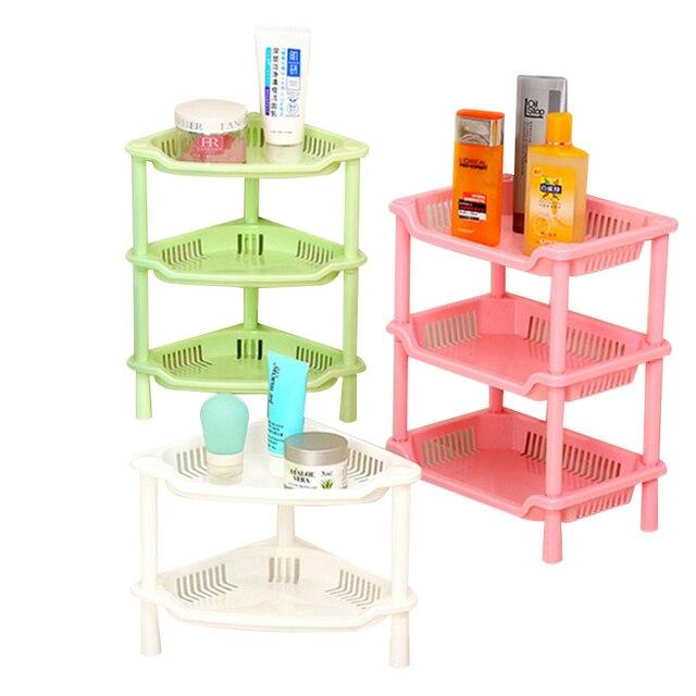 NEW Fashion Shelf Kitchen Storage Detachable Three Layer Magazine Rack  Bathroom Shower Shelf PP Rack