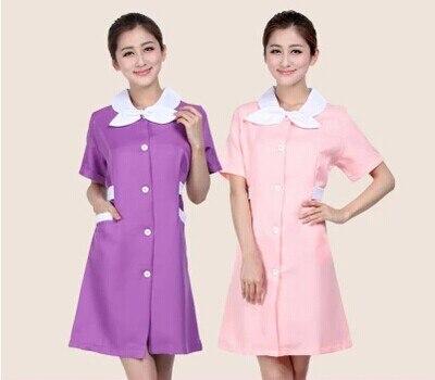 Medical uniforms 2018 nursing scrubs Clothes For Beauty Shop Short Sleeve Doctor Clothing uniformes hospital women Work dress