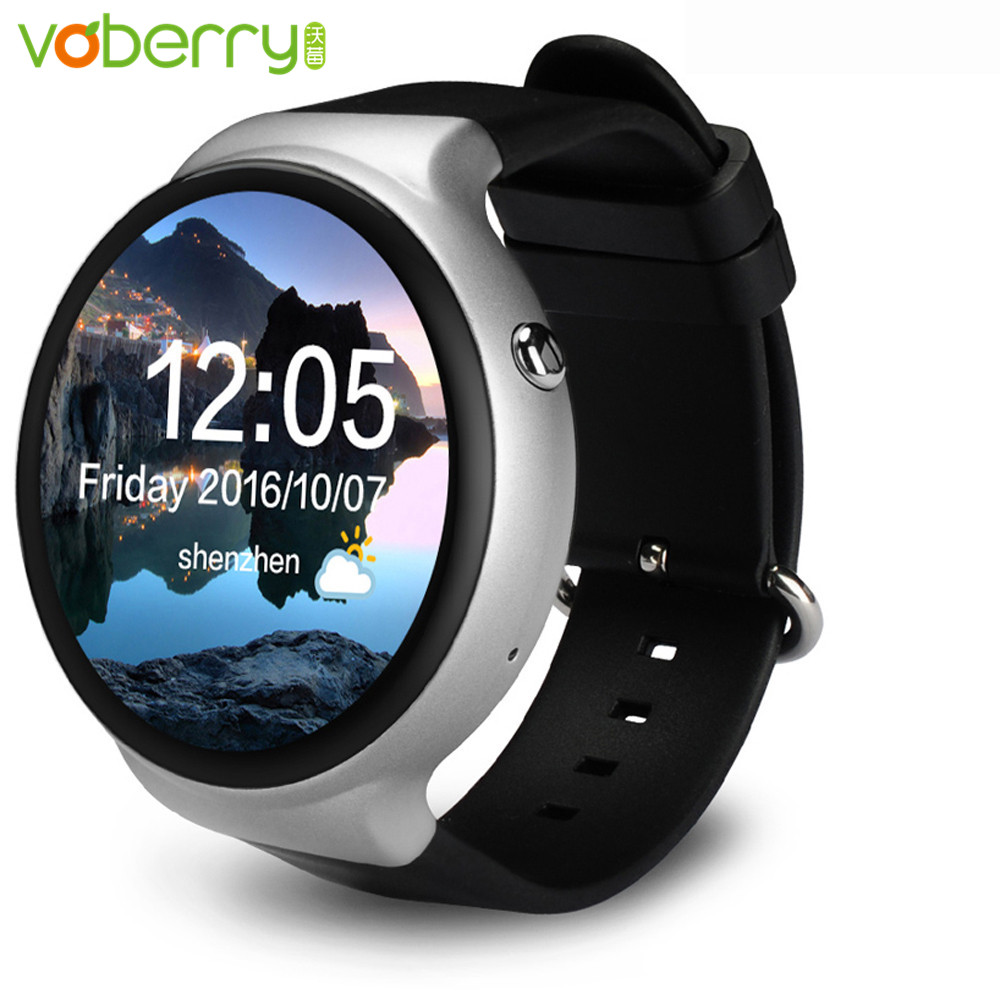VOBERRY Smart Watch Android 5.1 OS 2GB + 16GB WIFI 3G GPS Heart Rate Monitor Bluetooth MTK6580 Quad Core SmartWatch 3 colors d6 smart watch phone 1 63 inch mtk6580 quad core 3g android 5 1 wear wifi gps smartwatch heart rate monitor for android ios