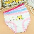 2 unids/lote 2-10Y Girls panties ropa interior bebé ropa interior niños fichas escritos impresos algodón de la muchacha bragas A0084