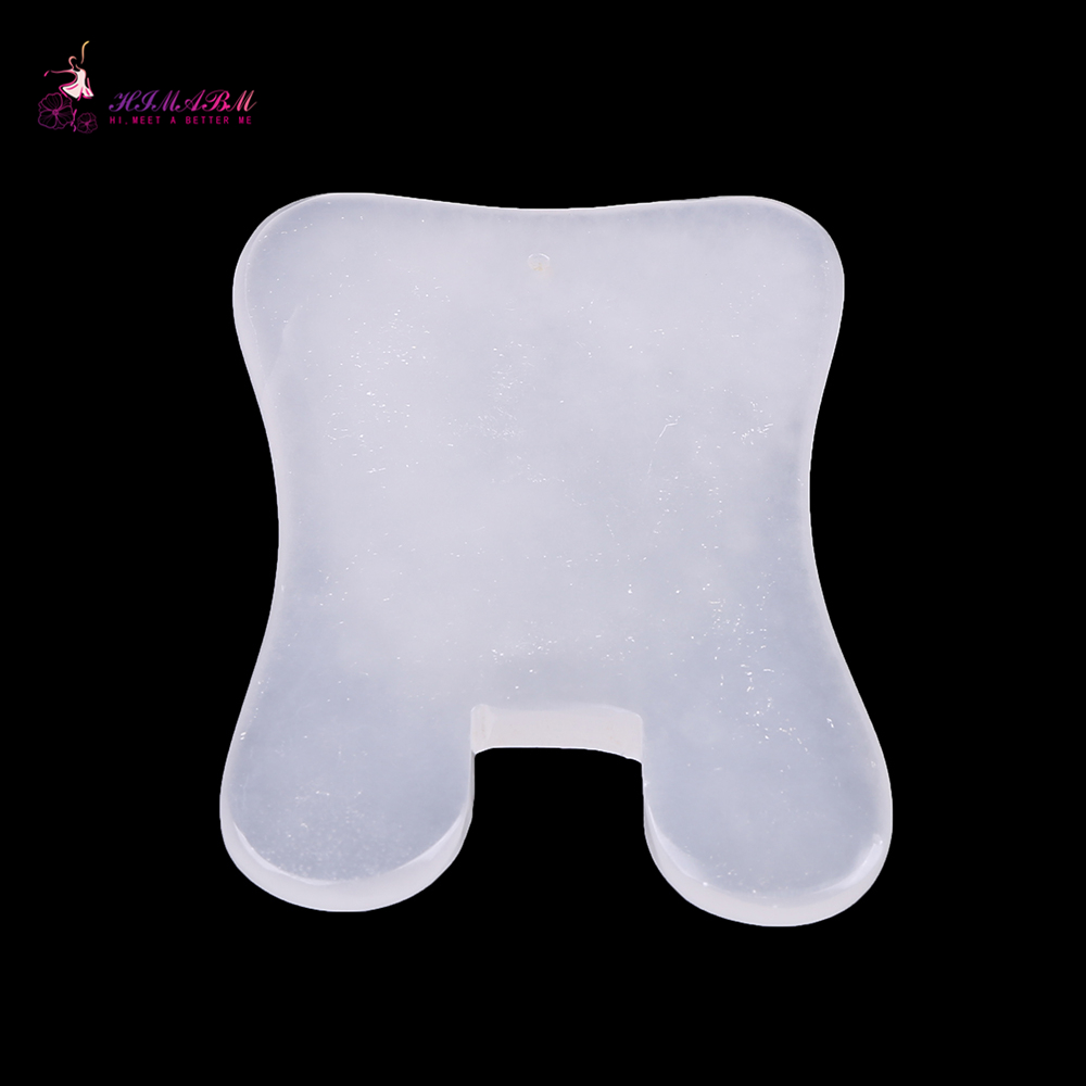 1 Pcs 100% natural white guasha board massage tool facial treatment scraping tool for body health care