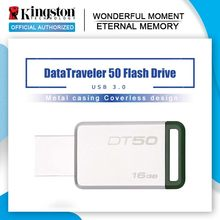 Kingston Mini USB 3.0 GB USB Flash Drive Pendrives 128GB 32 16 64GB Pendrive USB 3.1 GB Mental pen Drive GB Memory Stick DT50 8(China)