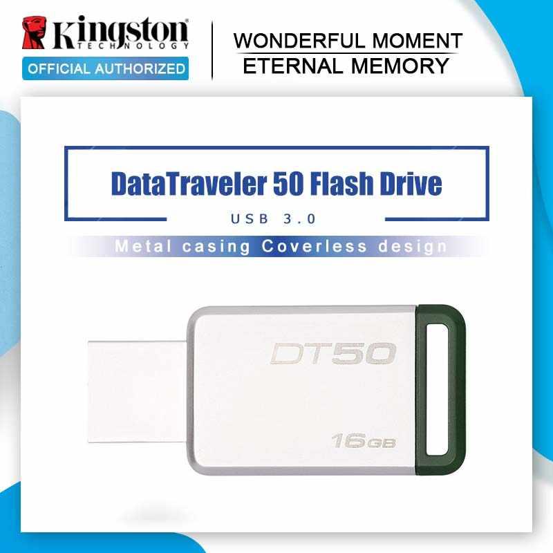 كينغستون البسيطة USB 3.0 Pendrives 128GB 32GB محرك فلاش USB 64GB USB 3.1 بندريف 16GB العقلية حملة القلم 8GB الذاكرة عصا DT50