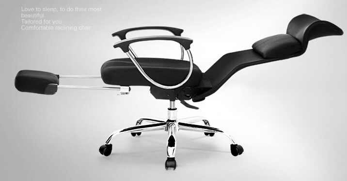 Computer Chair. Household Can Lay A Foot Rest Time Office Chair.  Boss Chair.
