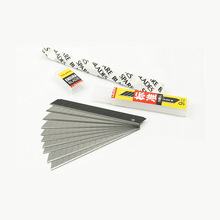 10 blades /box 9mm Japanese TaJima blades Stainless steel snap off Utility Knife Replacement Blade for car wrap MX-LB30N stainless steel utility knife snap off retractable razor blade box wallpaper cutter tool stationery