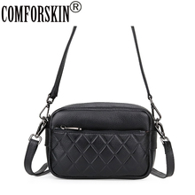 COMFORSKIN Brand European And American Geometric Style Women Leather Handbag Large Capacity Ladies Messenger Bag High Quality
