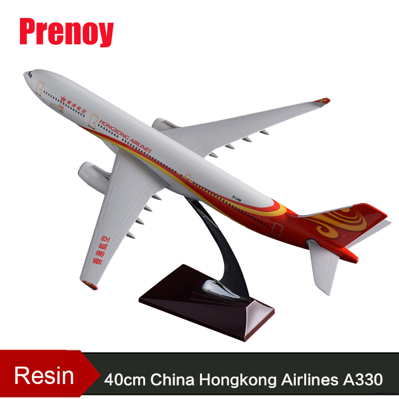 40cm Resin Boeing A330 Airplane Model China Hongkong Airlines Aircraft Model Air Hongkong Aviation Airbus Airways Plane Model 47cm shunfeng white boeing 757 resin sf express airlines airplane model b757 cargo airbus logistics airways aircraft plane model