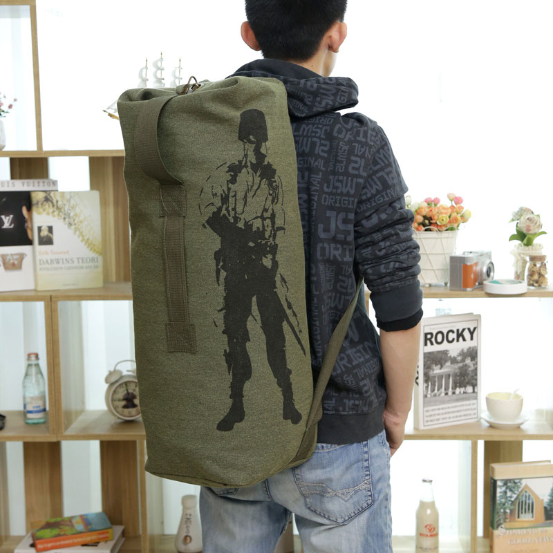 2018 Brand Man's Canvas Travel Bag Large Capacity Bag Military Enthusiasts Big Luggage Bags Army Backpack Wholesale