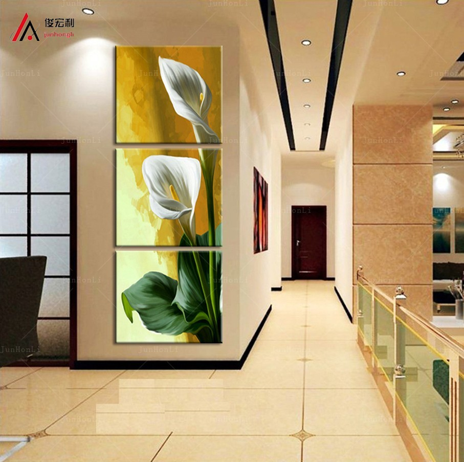 Nordic art modular decoration picture print art calla lily flower ...