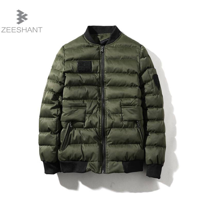 ZEESHANT Winter Jacket Men Warm Coat Cotton-Padded Outwear Mens Coats Jackets Hooded Collar Slim Clothes Thick Parkas M-5XL winter jacket men thick warm hooded winter coat cotton padded jackets fashion young mens slim fit outwear parka hombre