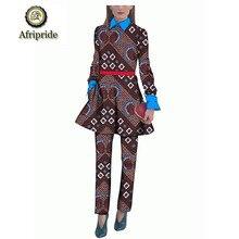 2019 African dresses for women AFRIPRIDE classic traditional  sleeve dashiki bazin riche ankara print batik cotton  S1826009 african dresses for women 100% cotton new arrival women s print dashiki dress stunning elegant