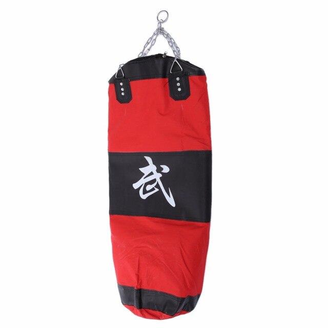 100cm Empty Boxing Sanda Sandbag MMA Boxing Training Bag Hook Kick Hanging Hollow Sand Bag Fight Punching Bag Punch Earthbag