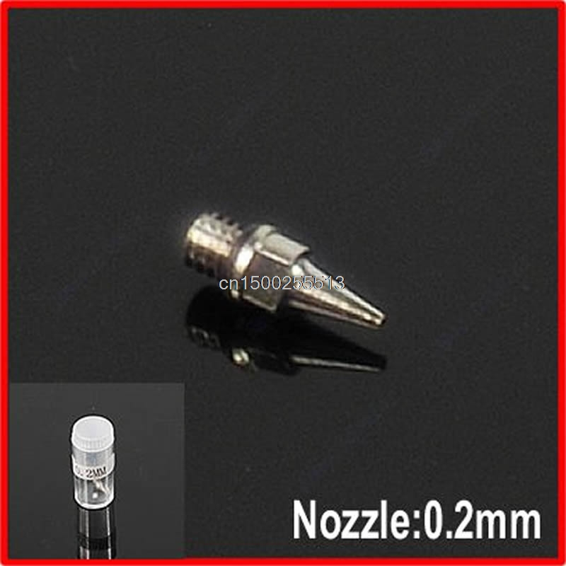 1PC New Airbrush Accessories Machine Part Nozzle 0.2 Mm Replacement With Bottle