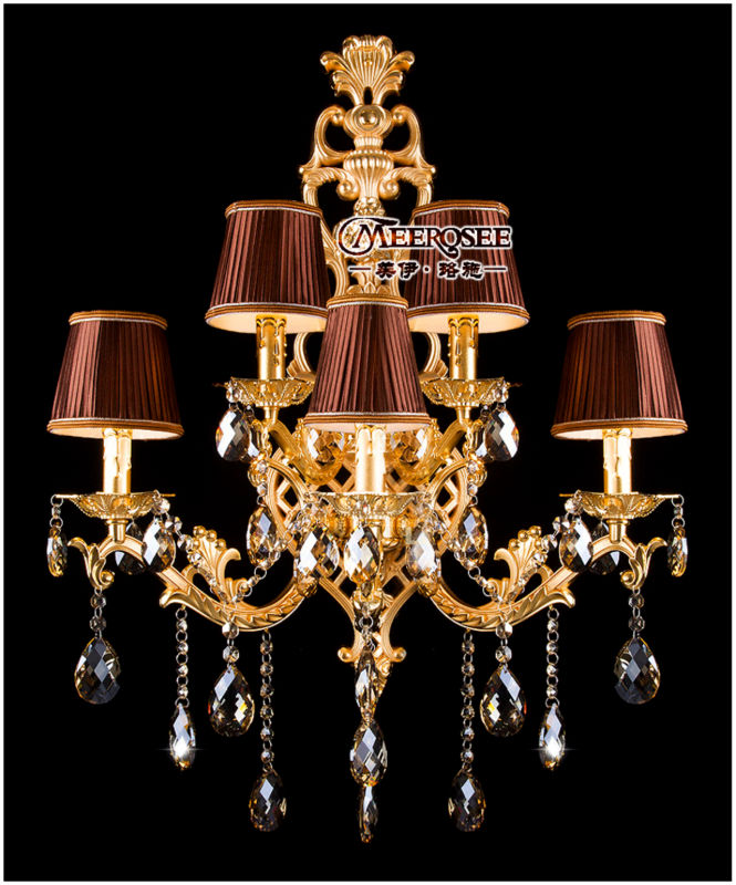 luxury crystal wall sconce light crystal lighting md8841 gold colorchina mainland cheap sconce lighting
