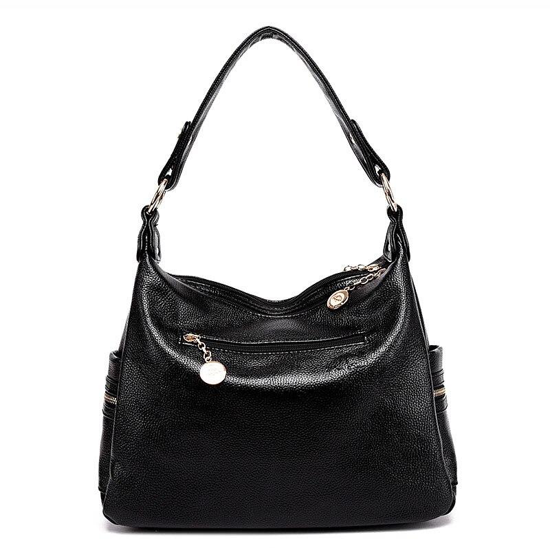 new genuine leather women messenger bags luxury brands women shoulder bag cowhide female large capacity mom bag tote