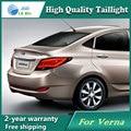 Opção de envio Led Lâmpada de Cauda para Hyundai Verna Solaris Sotaque luzes da cauda lâmpada traseira da luz da cauda levou drl sinal + freio + reverso