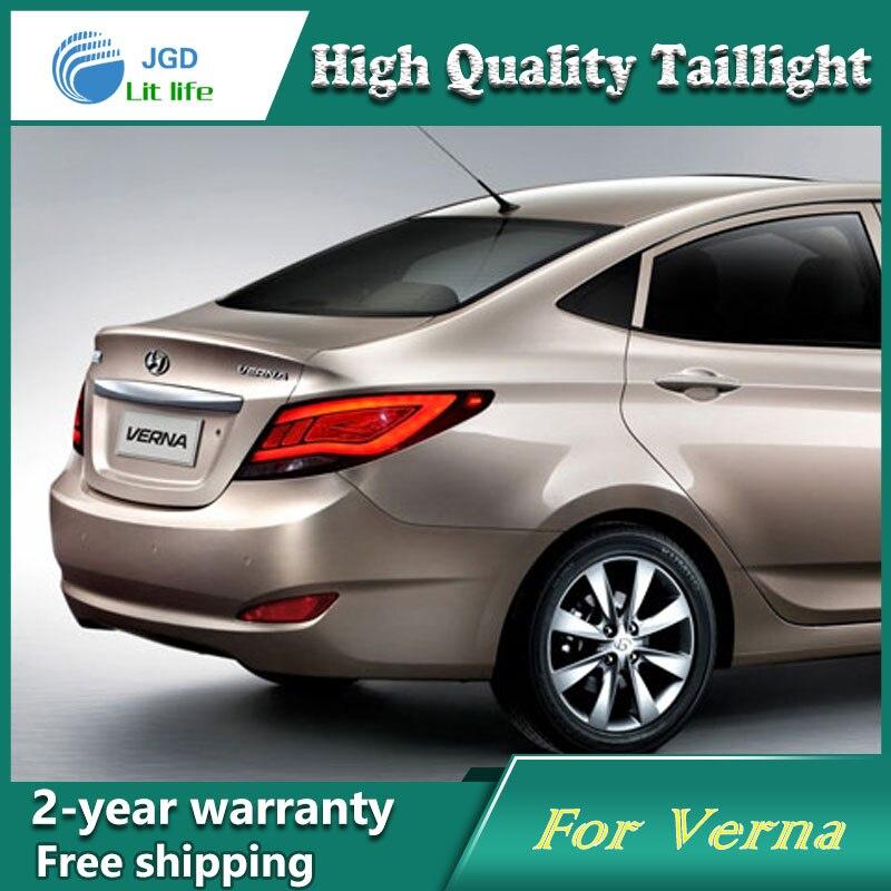 Car Styling Tail Lamp For Hyundai Verna 2011 2013 Tail Lights LED Tail Light Rear Lamp